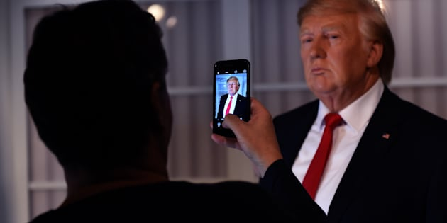 A new wax figure of US President-elect Donald Trump is viewed a day after it was launched at Madame Tussauds in Washington,DC on January 19, 2017.