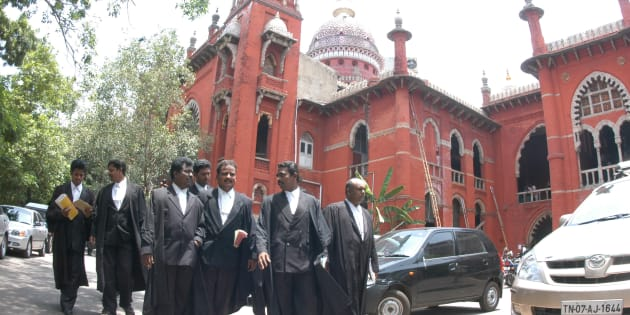 Madras High Court in Chennai, Tamil Nadu, India. (Photo by Hk Rajashekar/The India Today Group/Getty Images)