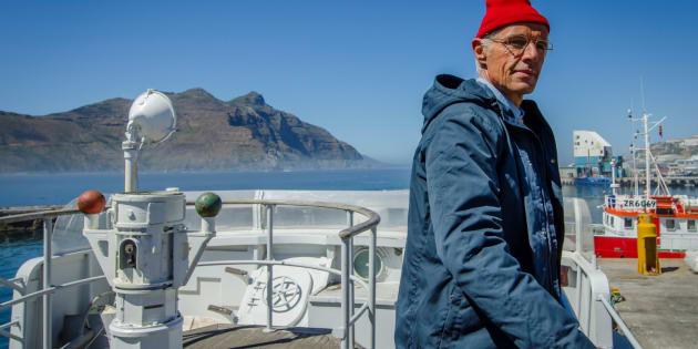 Lambert Wilson dans le rôle du commandant Cousteau dans le film de Jérôme Salle.