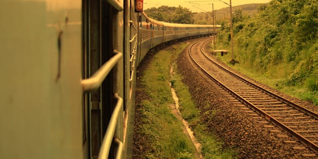 Shot during a long train journey in India