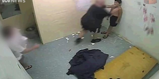 Youths being isolated and strapped to mechanical chairs and six boys being tear-gassed at the Don Dale Youth Detention Centre in Darwin. Photo: ABC Four Corners