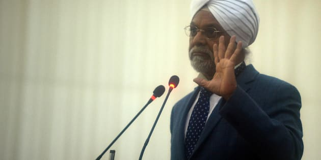 Then CJI-designate Justice JS Khehar at the farewell ceremony of the outgoing Chief Justice of India Justice TS Thakur, in New Delhi.