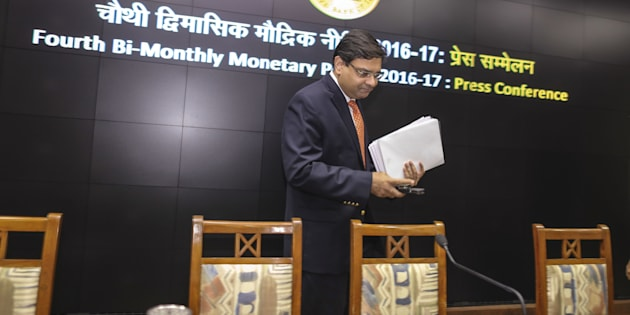 Urjit Patel, governor of the Reserve Bank of India (RBI).