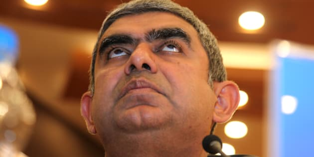 Vishal Sikka, chief executive officer of Infosys Ltd.,