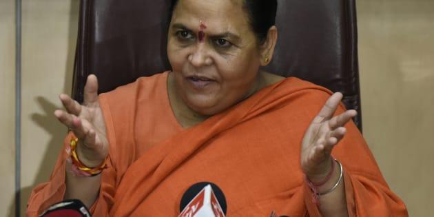 Uma Bharti, Union Cabinet Minister for Water Resources, River Development and Ganga Rejuvenation
