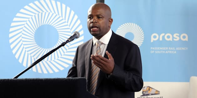 Former Prasa CEO Lucky Montana at a press conference in 2012.