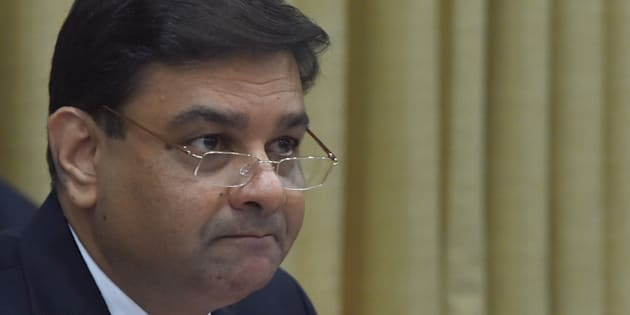 Reserve Bank of India (RBI) governor Urjit Patel looks on during a press conference at the RBI headquarters in Mumbai on June 7, 2017.