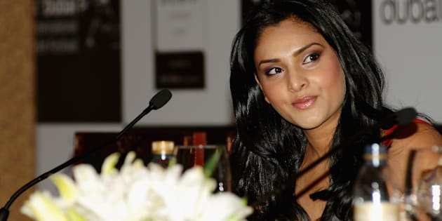 Actor Ramya attends a press conference in Dubai in 2007.  (Photo by Andrew H. Walker/Getty Images)