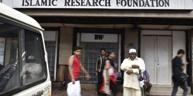 Islamic Research Foundation (IRF), the office of controversial Islamic preacher Zakir Naik in Mumbai. (Photo by Anshuman Poyrekar/Hindustan Times via Getty Images)