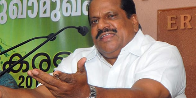 File photo of EP Jayarajan, Minister for Industries and Sports addressing media persons in Kochi, on May 30, 2016.