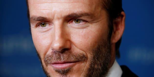 Photo: David Beckham à New York, le 12 décembre 2016.