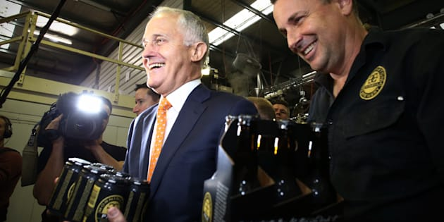 Malcolm Turnbull visited the Mornington Peninsula Brewery on Thursday
