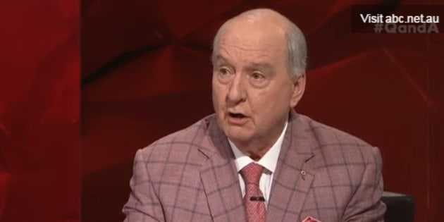 Alan Jones was firing on all cylinders on Q&A.