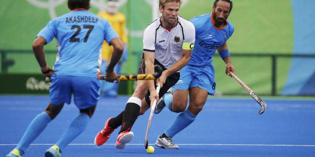 India-Germany match underway.