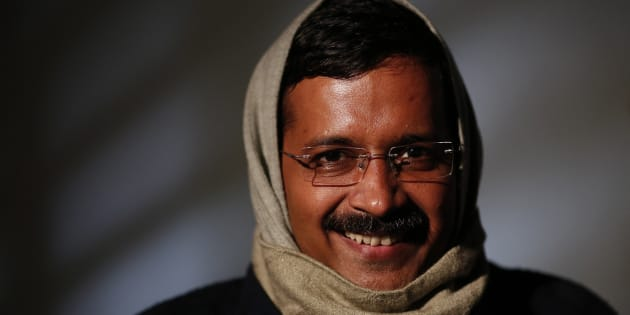 Delhi's Chief Minister Arvind Kejriwal, chief of the Aam Aadmi (Common Man) Party (AAP), smiles during an interview with Reuters at his residence on the outskirts of New Delhi January 27, 2014.