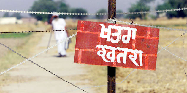Represtational image of India Pakistan in Punjab.