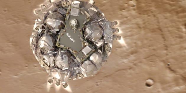 Le robot Schiaparelli de la mission ExoMars.