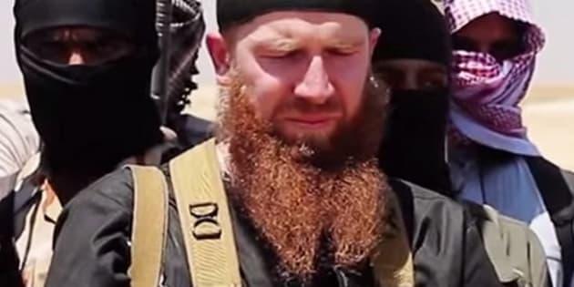 """(Photo: Omar al-Shishani dit """"Omar le Tchétchène"""", l'un des commandants les plus en vue du groupe Etat islamique, a été tué en Irak en juillet 2016)"""