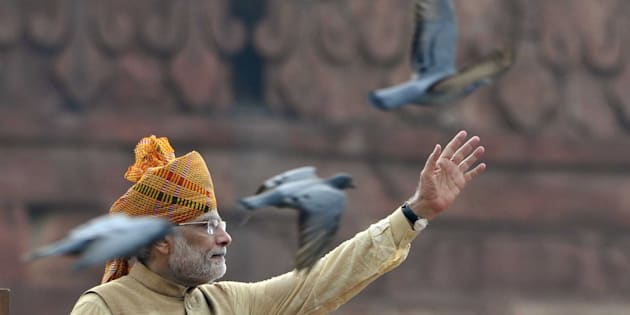 Prime Minister Narendra Modi. (Photo by Mohd Zakir/Hindustan Times via Getty Images)