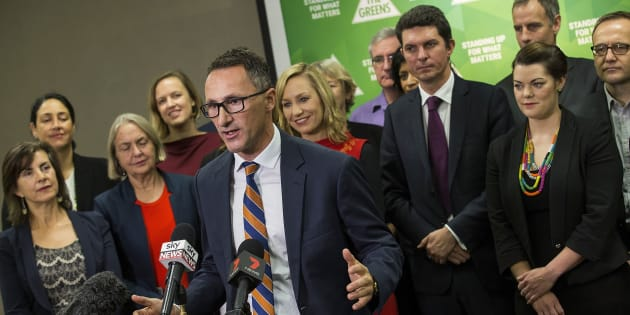 Richard Di Natale and the Greens parliamentarians, at the party's National Conference  in May.