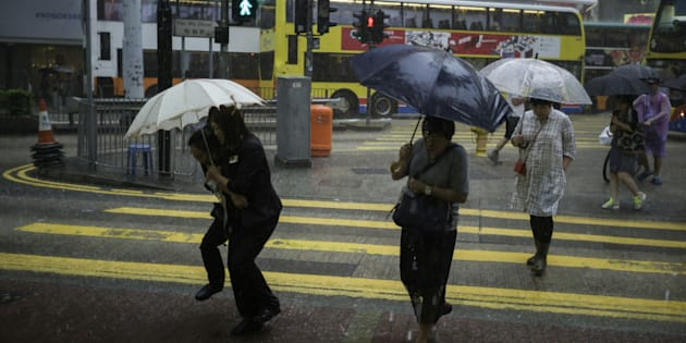 Residents in Hong Kong are preparing for the impact of Typhoon Haima.