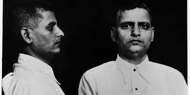 Mug shot of the Indian political activist Nathuram Vinayak Godse, the killer of Gandhi sentenced to hanging. India, 12th May 1948 (Photo by Mondadori Portfolio via Getty Images)