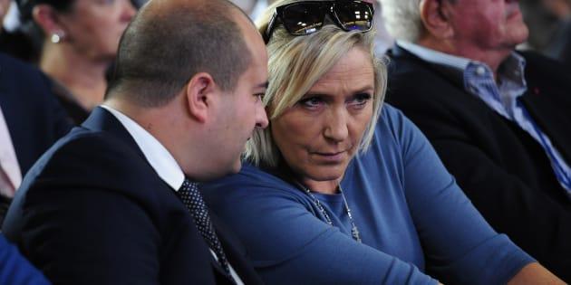 Marine Le Pen avec David Rachline aux Estivales de Fréjus.