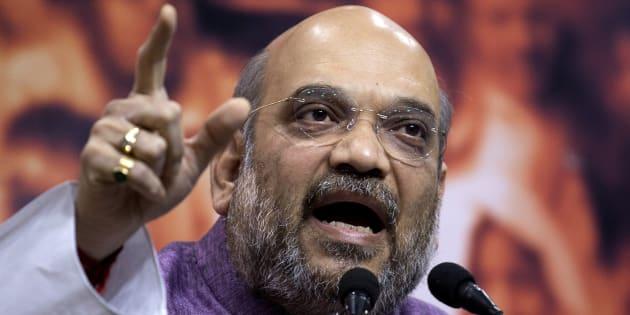 BJP president Amit Shah. (AP Photo/Manish Swarup)