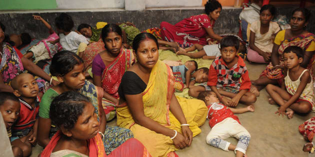 Temporary relief camps run by locals for the people affected by communal violence during protests over an objectionable social media post on July 5, 2017 in North 24 Parganas, India.