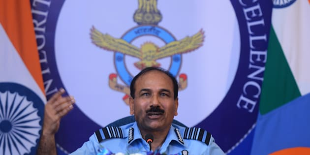 Indian Air Force Chief, Air Chief Marshal Arup Raha in New Delhi. (Photo by Praveen Negi/India Today Group/Getty Images)