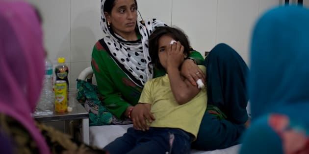 Nine-year-old Tamanna's eye was damaged after security forces fired pellet.