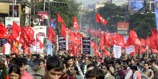 A Left Front protest rally in Kolkata.