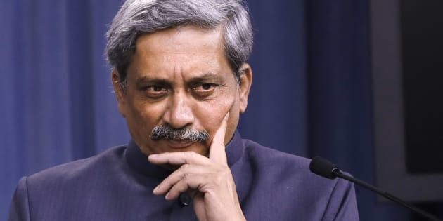 Defence Minister Manohar Parrikar during a news conference at the Pentagon on 29 August 2016. (AP Photo/Jacquelyn Martin)