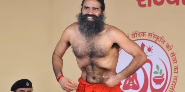 Yoga guru Ramdev, the brand ambassador of Yoga and Ayurveda in Haryana, organized Three-day yoga training camp, at Parade Ground.