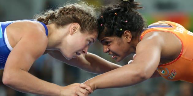 Sakshi fought five bruising battles in the 58kg category.