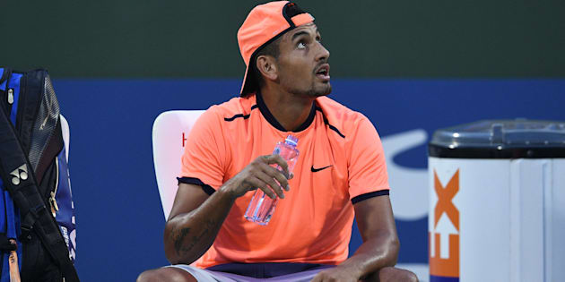 Nick Kyrgios has exited the Shanghai Masters after putting in a very ordinary effort.