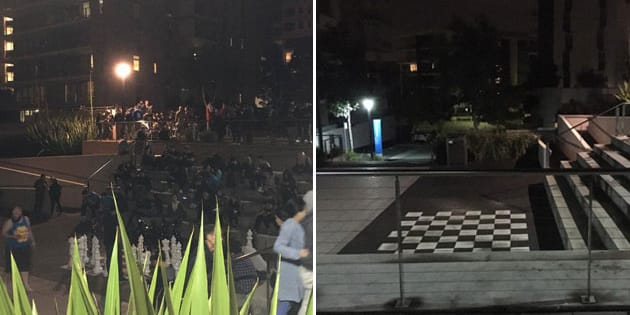 The park in Rhodes, before and after the Pokestops were removed