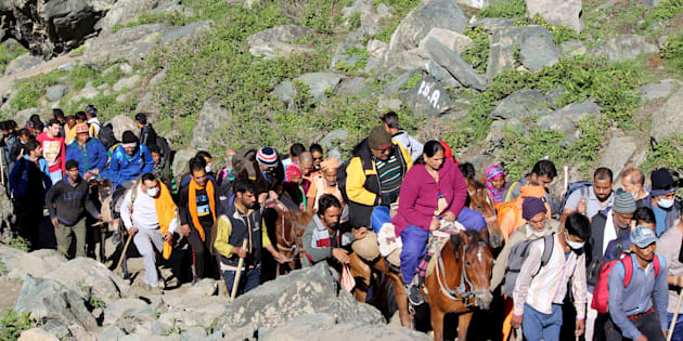 Batch of 678 pilgrims leaves for Amarnath