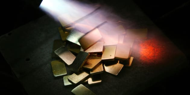 Representational image of gold biscuits.