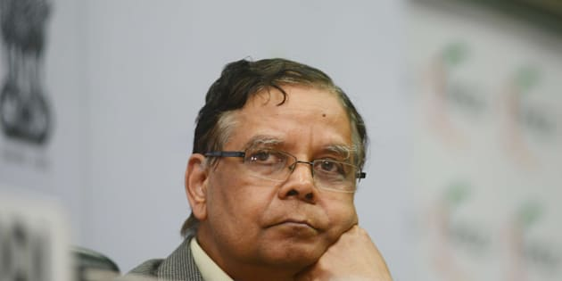 Dr. Arvind Panagariya,  Vice Chairman of NITI Aayog, at the National launch of India Energy Security Scenarios, 2047 version two at FICCI on August 27, 2015 in New Delhi, India. (Photo by Ramesh Pathania/Mint via Getty Images)