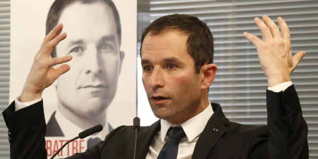Benoît Hamon à son QG de campagne le 6 janvier 2017. REUTERS/Charles Platiau