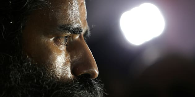 Indian yoga guru Baba Ramdev talks to media after a news conference in New Delhi, India, May 4, 2017.