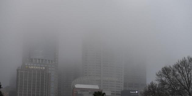 Fog has settled in over Sydney