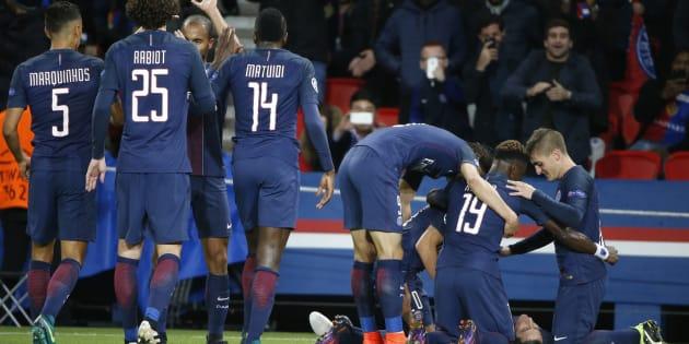 Après le but de Di Maria lors de PSG - FC Bâle en Ligue des champions.