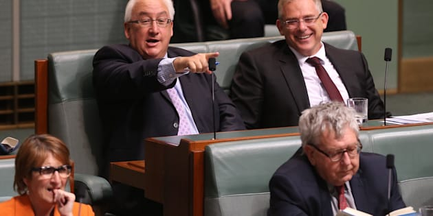Michael Danby (left, pointing) has been criticising his Greens opponent online