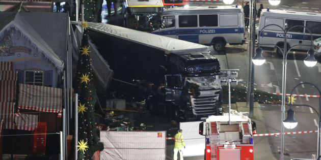 A general view shows the site where a truck ploughed through a crowd at a Christmas market on Breitscheidplatz square near the fashionable Kurfuerstendamm avenue in the west of Berlin, Germany, December 19, 2016.