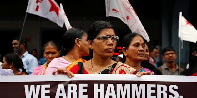 People attend a protest against what they say are attacks on India's low-caste Dalit community in Mumbai, India, July 27, 2016.My parents and grandparents were slaves. I wish my generation does not have to face untouchability and insults