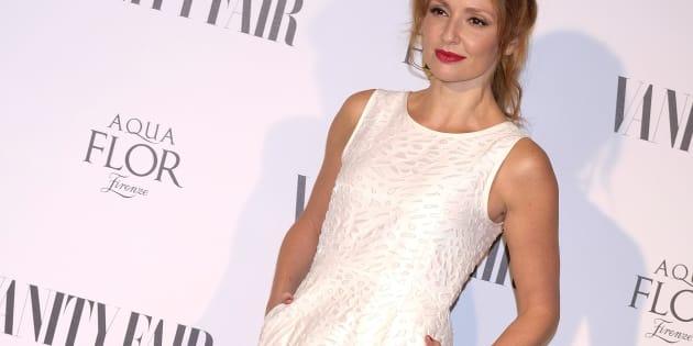 Cristina Castaño, en la fiesta de la revista 'Vanity Fair' el 21 de septiembre de 2017.