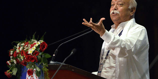 A file photo of Mohan Bhagwat at the 2014 World Hindu Congress in New Delhi.