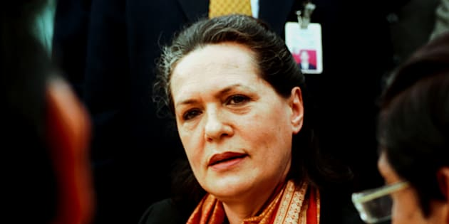 File photo of Sonia Gandhi, leader of the main opposition Congress party.